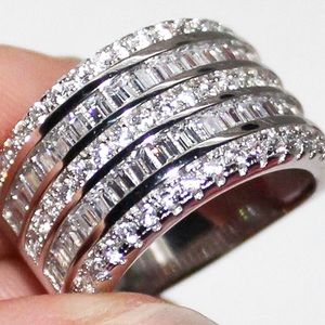 Jewelry - 925 Silver/White Sapphire Layer Cake Ring